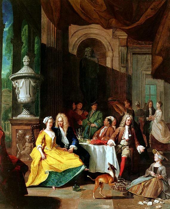 Angellis Pieter Gentleman At Table. French artists