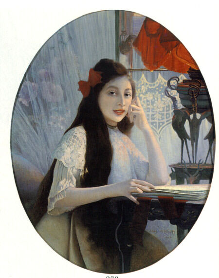 A Portrait of Young Girl. French artists
