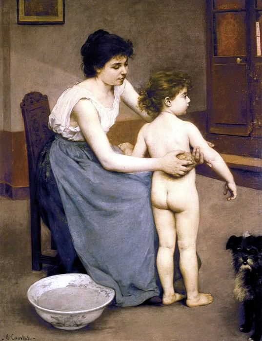 After the Bath. French artists