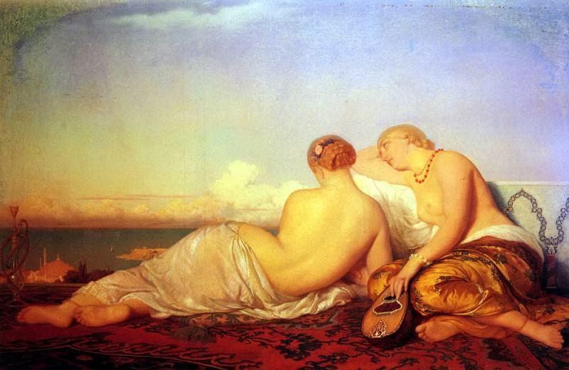 Herbert Antoine Auguste Ernest Les Deux Odalisques Contemplant Le Bosphore. French artists