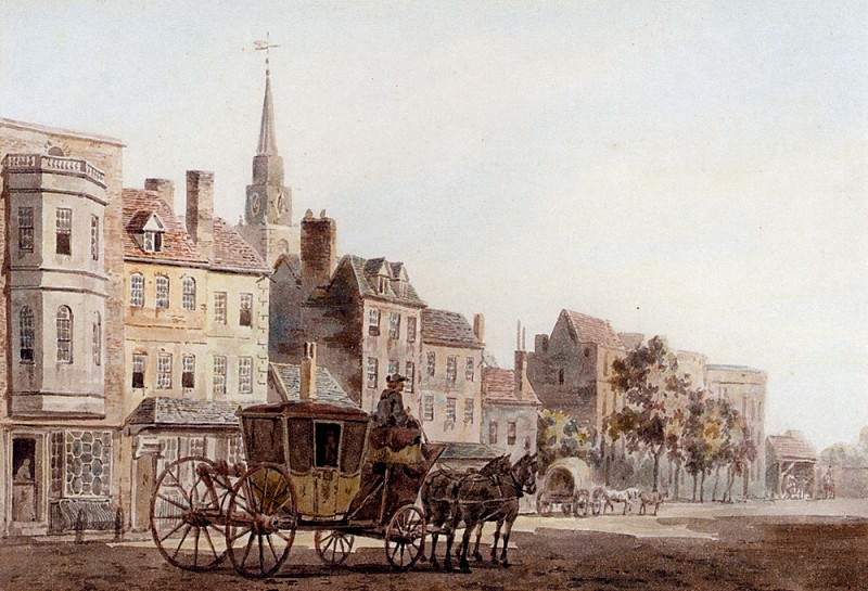 Marlow William A Coach And Horses Entering York. French artists