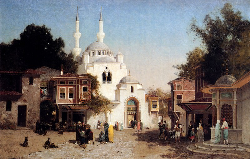 Brest Germain Fabius Outside The Mosque. French artists