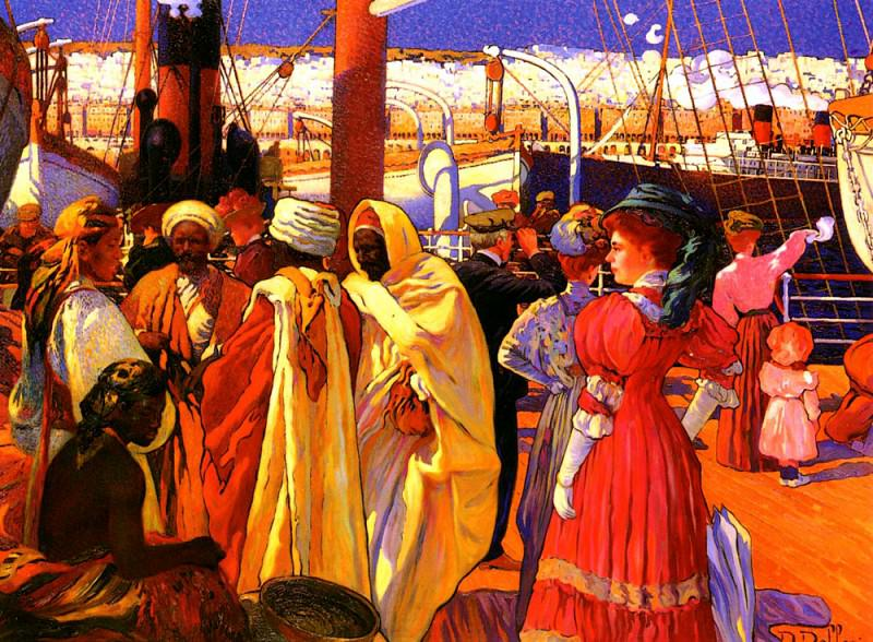 Dellepiane Davide L - Embarquement. French artists