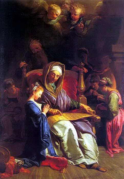 Jouvenet, Jean - Baptiste (French, 1644-1717) The Education Of The Virgin. French artists