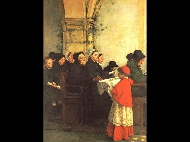 The Ave Maria Interior of a Convent at Aramont Verberie Oise. French artists