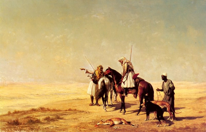 Billet Etienne The Desert Hunt. French artists