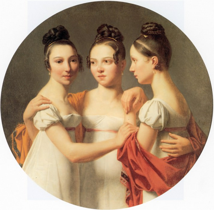 Drahonet Le Trois Graces. French artists