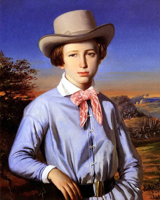 Лоран, Франсуа - Юноша в шляпе. Французские художники