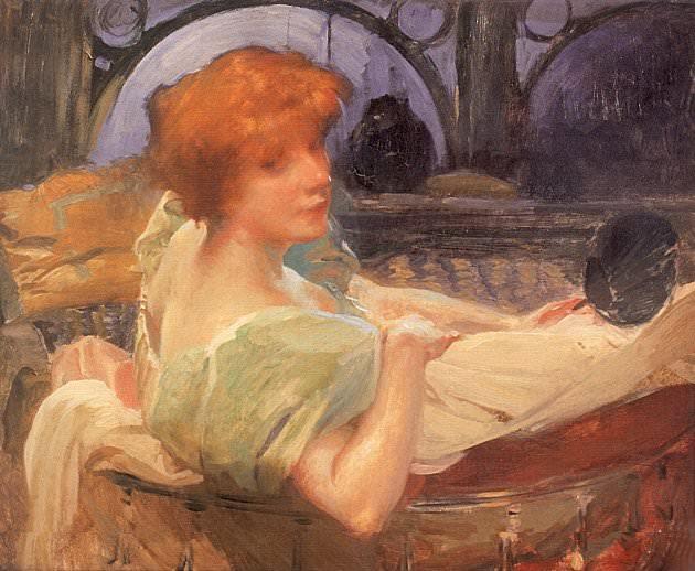 Portrait de Mme Georges Rodenbach. French artists