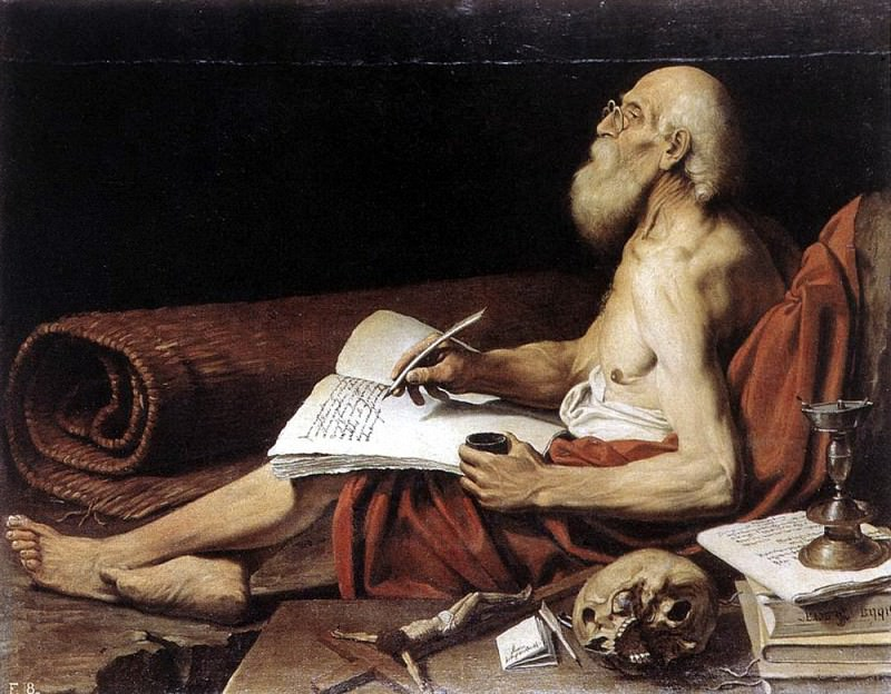 SPADA Lionello St Jerome. French artists