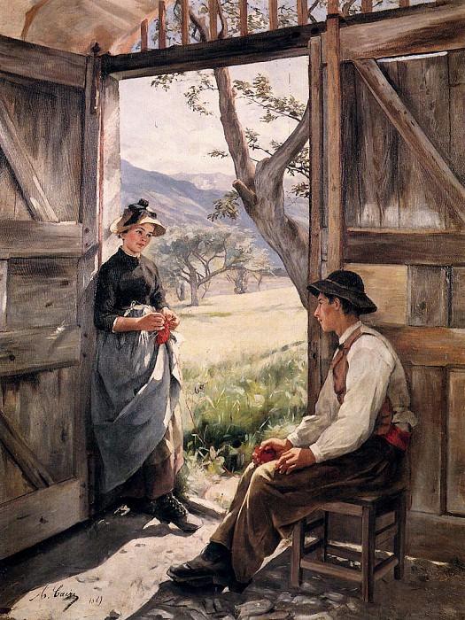Кэр, Мари Тонуар - Молодые крестьяне. Французские художники