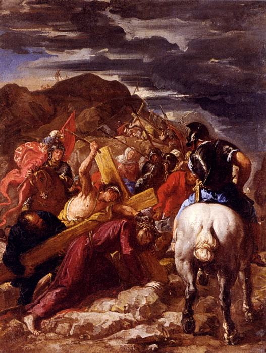 Courtois Guillaume Christ On The Road To Calvary. French artists