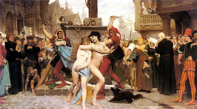 Garnier Jules Arsene Le Supplice des Adulteres. French artists