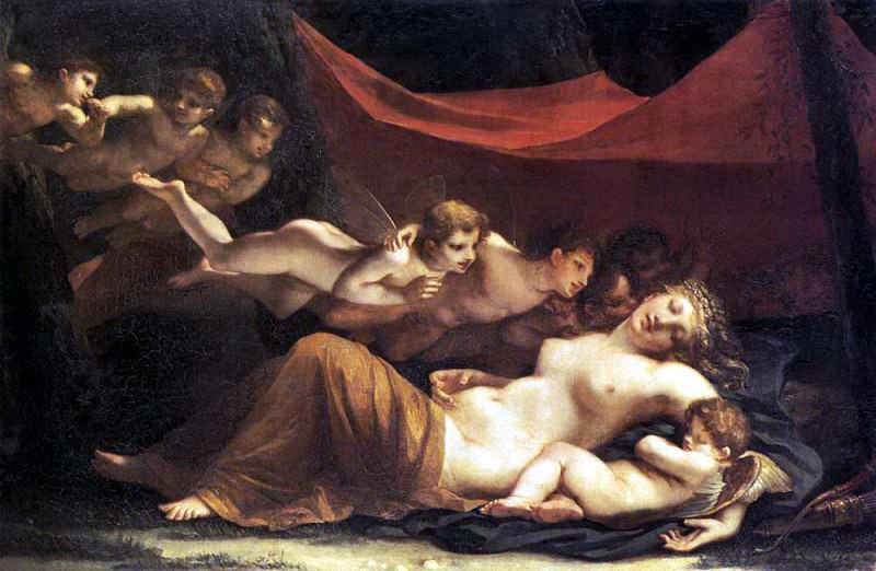 MAYER Marie Constance The Sleep of Venus and Cupid. French artists