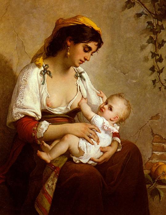 Жюль Салле-Вагнер - Молодая мать. Французские художники