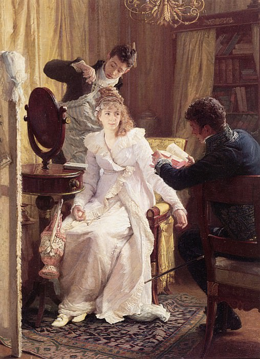 Simm Preparing for the Ball. French artists