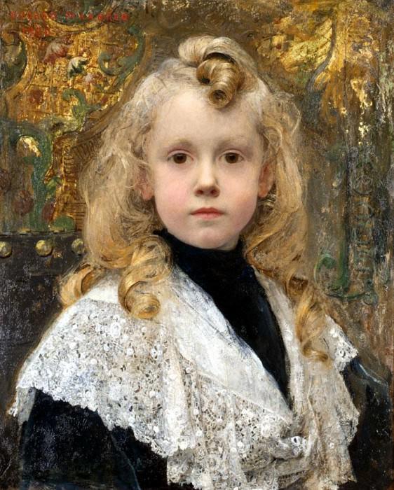 Maxence Edgar Portrait d - Enfant. JPG. French artists