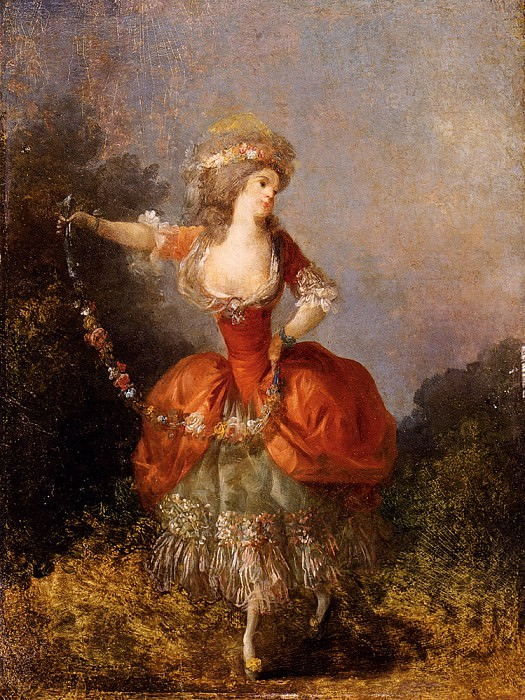 Schall Jean Frederic Lady Dancing With A Garland. French artists