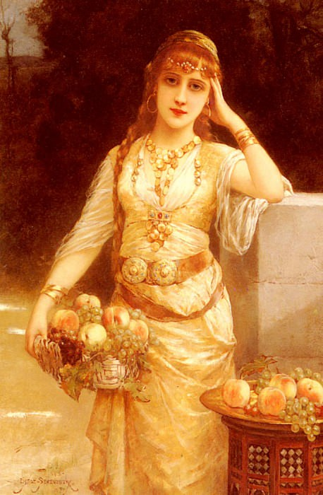 Semenowsky Eisman A Beauty With Fruit. French artists