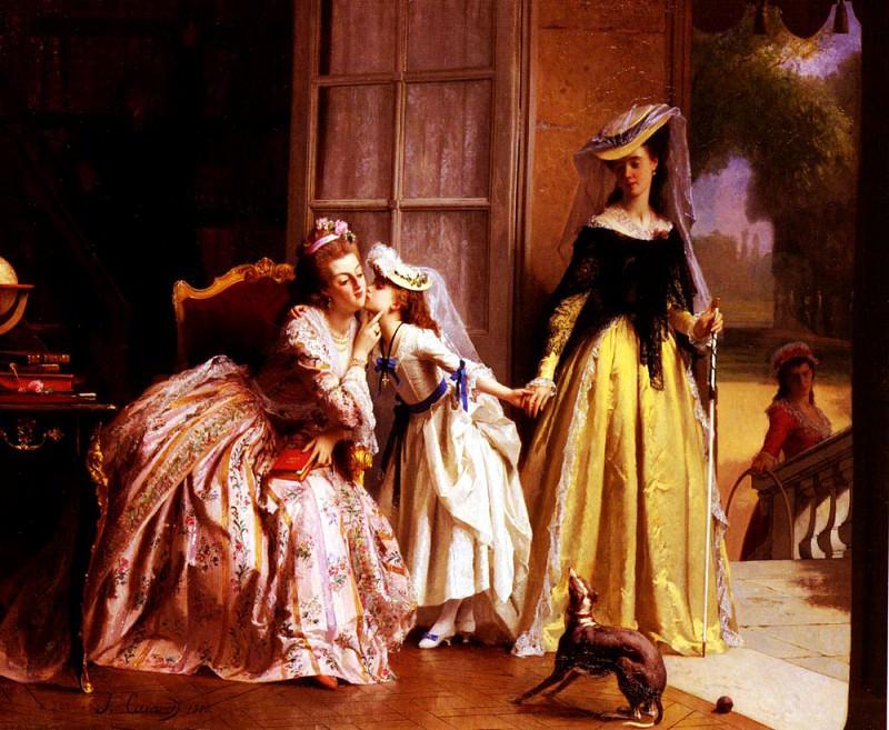 Caraud Joseph La Reine Marie - Antoinette Et Sa Fille. French artists