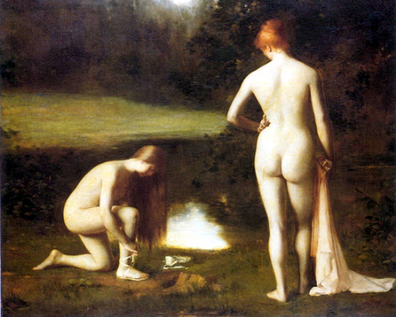 Hodebert Leon Aguste Cesar The Bathers. French artists