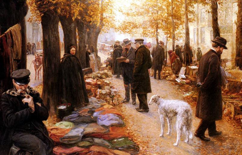 Buffin Carlos Le Marche A La Feraille. French artists