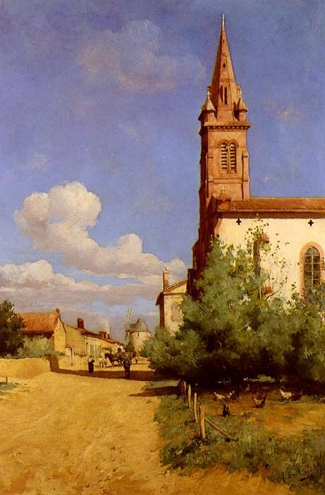 Garibaldi Joseph A Village In Provence. French artists
