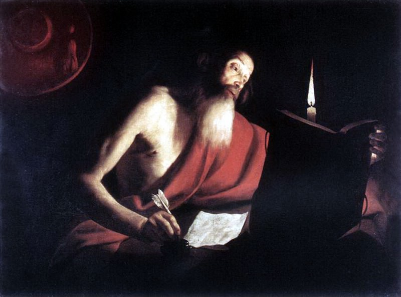 BIGOT Trophime St Jerome. French artists