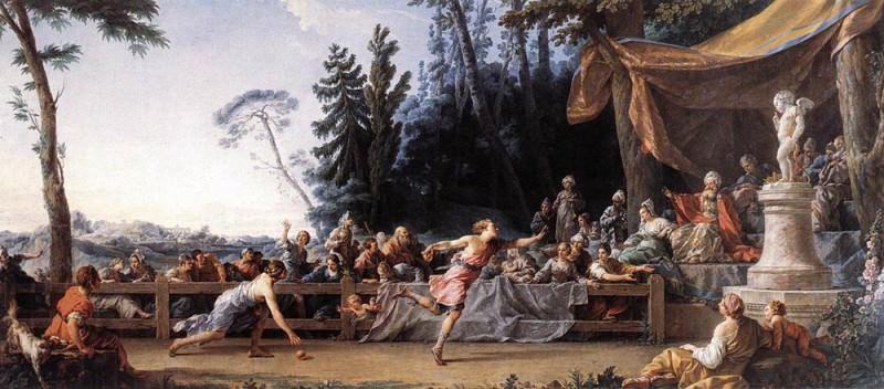 HALLE Noel The Race Between Hippomenes And Atalanta. French artists