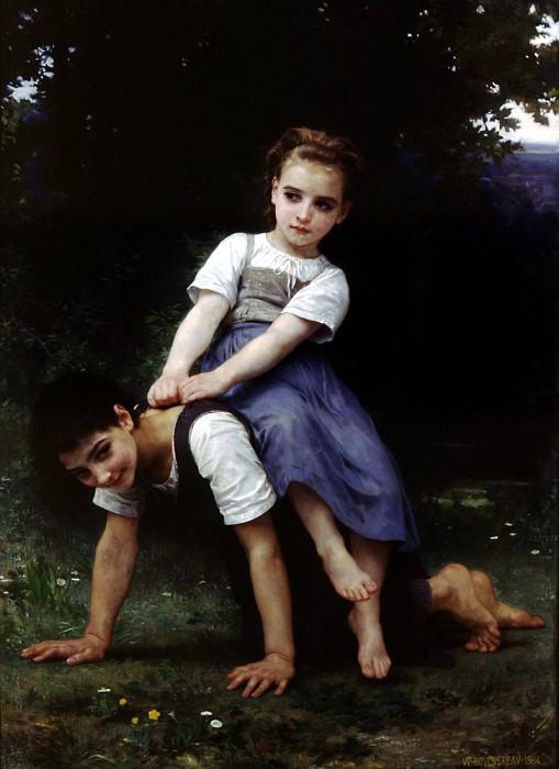La bourrique oil on canvas. French artists