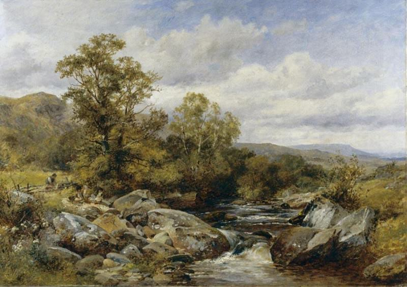 Bates David Children by a Stream. French artists
