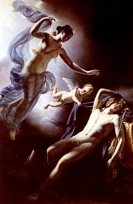 Langlois Jerome Martin Diane Et Endymion. French artists