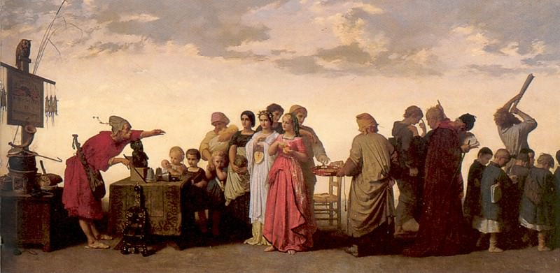 Жан Луи Амон - Фокусник. Французские художники