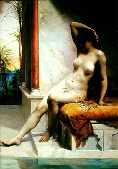 Diedonne Emmanuel de A bela no banho 1886. French artists