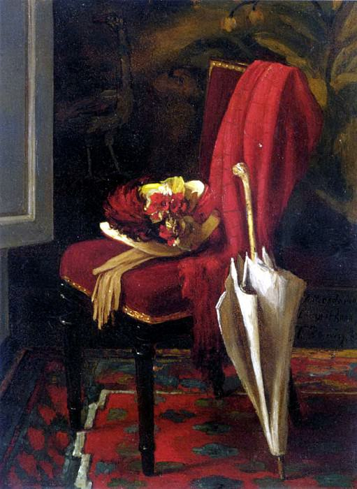 Bonvin Francois Nature Morte A L Ombrelle. French artists
