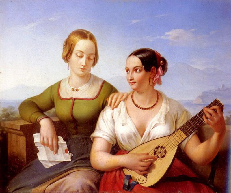 Schimon Ferdinand The Lute Player. French artists