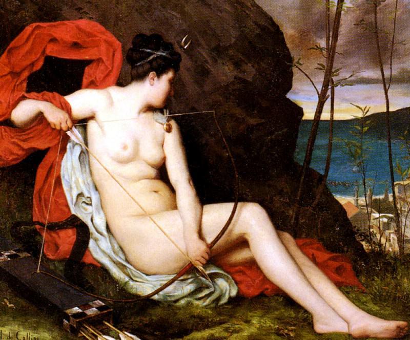 Callias Horace de Diane La Chasseuse. French artists