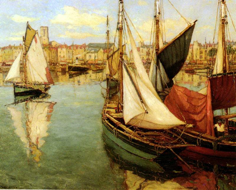 Charpentier Georges Dans Le Port De La Rochelle. French artists