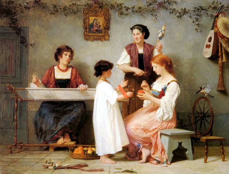Curzon Paul Alfred De Afternoon Pasttimes. French artists