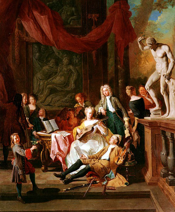 Angellis Pieter A Musical Assembly. French artists