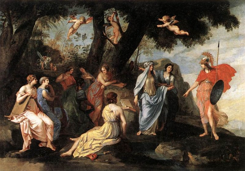 STELLA Jacques Minerva And The Muses. French artists