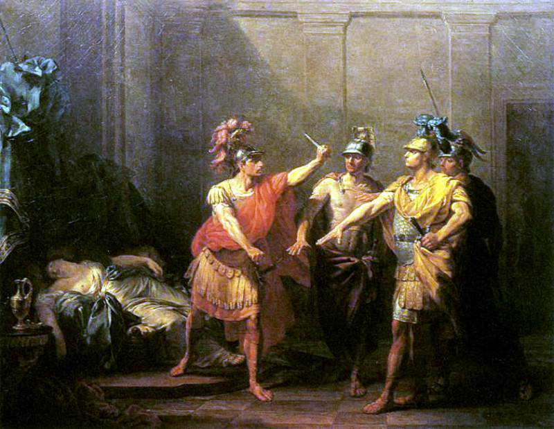BEAUFORT Jacques Antoine The Oath Of Brutus. French artists