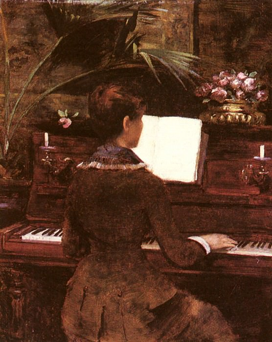 Abbema Louise At The Piano. French artists