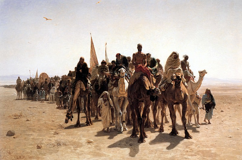 Belly Pilgrims Going to Mecca. French artists