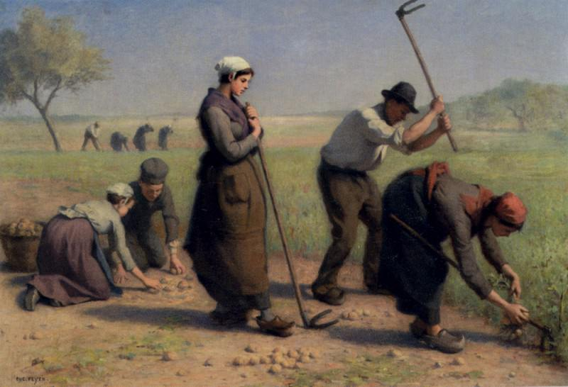 Feyen Jacques Eugene Les Moissonneurs. French artists