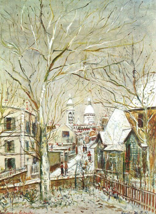 Utrillo, Maurice (French, 1883-1955). French artists