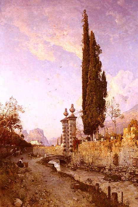Russ Robert Landscape In Northern Italy. French artists