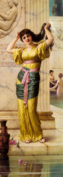 Semenowsky Eisman A Roman Beauty In The Baths. French artists