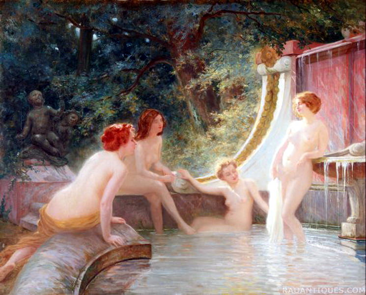 Fourie Albert Auguste Bathers in a Fountain. French artists