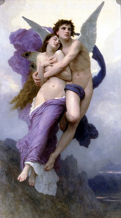 Le ravissement de Psyche. French artists